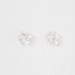 BESPOKE EARRINGS PEARL LITTLE FLOWER
