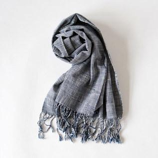 かすりスカーフ 細かいH