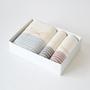 Flax line face and bath towel set A