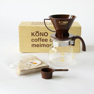 KONO MEIMON COFFEE DRIPPER SET FOR FOUR