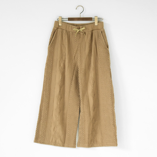 COTTON JACQUARD PANTS