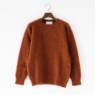クルーネックシャギーセーター