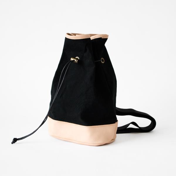 bonsac(巾着ショルダー) black