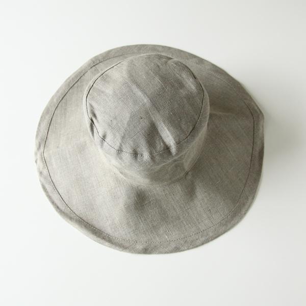 女性用のリネン素材の帽子(ハット)です