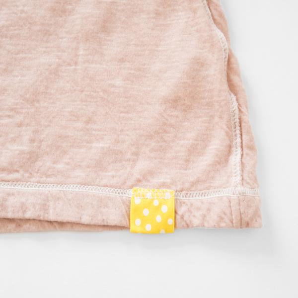 裾には白いステッチ(珊瑚色)