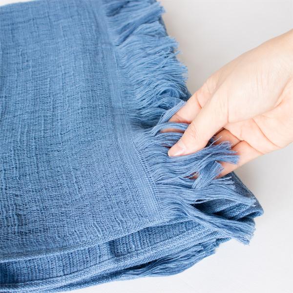 綿100%の柔らかな肌触り(瀬戸内ブルー)