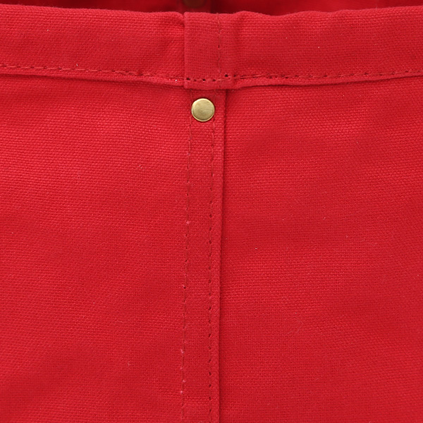 パラフィン加工が施された帆布生地(RED)