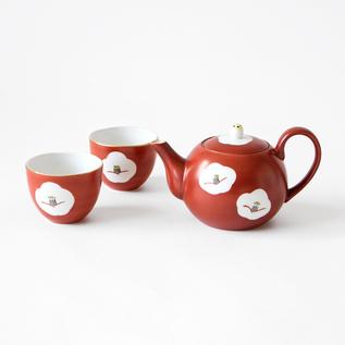 CAMELLIA TEA CUP AND TEA POT