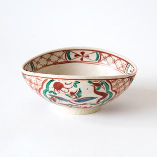 呉須赤絵 ダ円菓子鉢