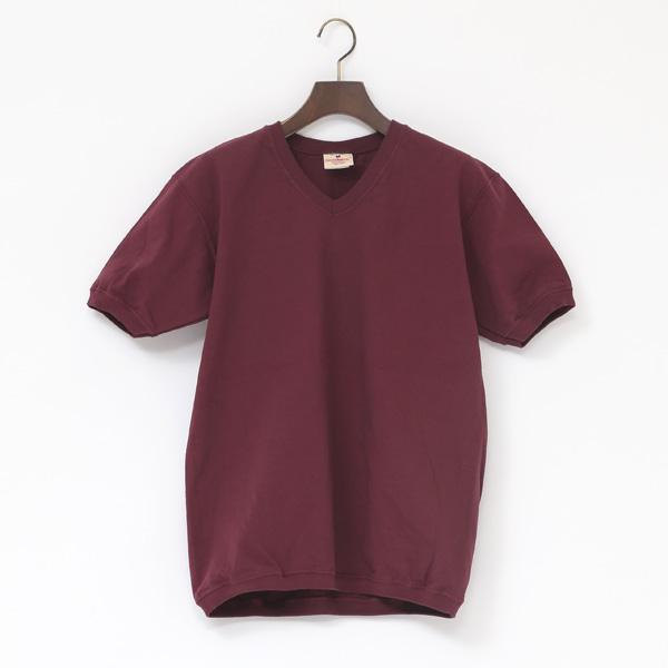 Vネック ショートスリーブ Tシャツ(PLUM)