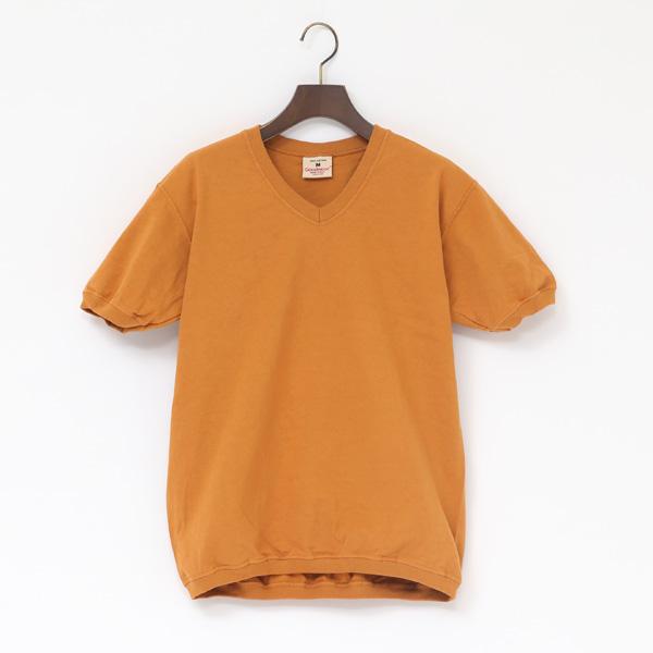 Vネック ショートスリーブ Tシャツ(MUSARD)