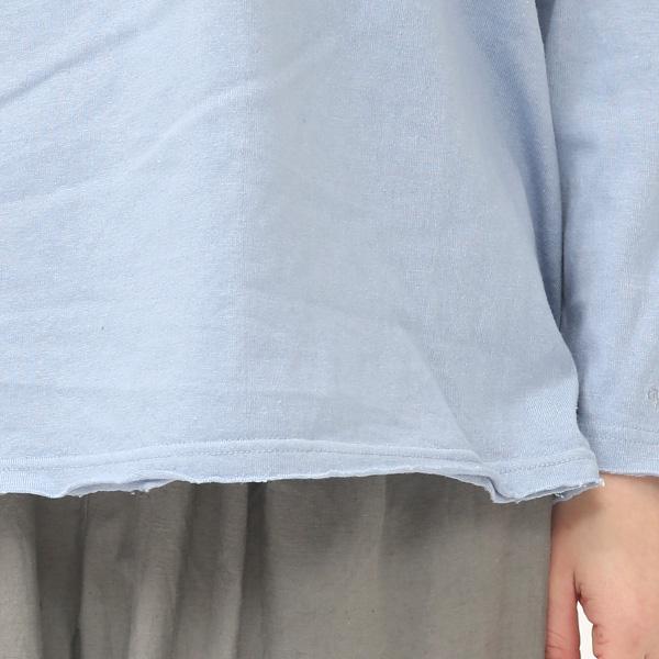 襟ぐりと裾、袖はカットオフ