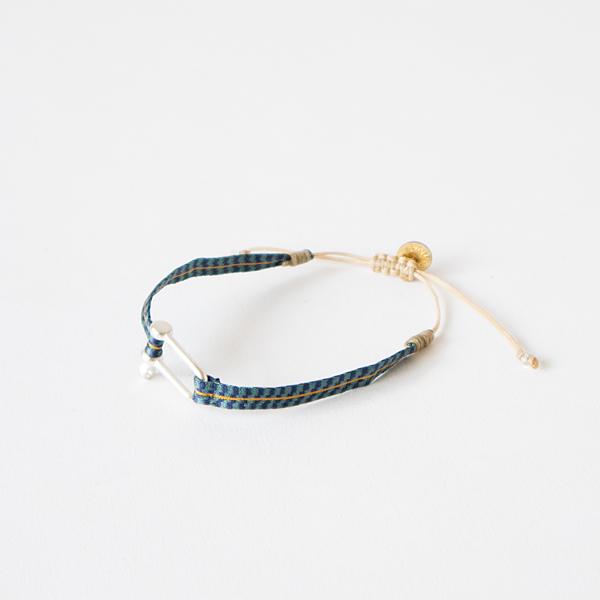 wayu artisan ブレスレットSILVER(BLUE)