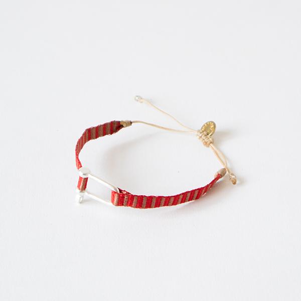 wayu artisan ブレスレット SILVER(RED)