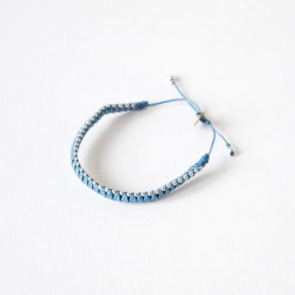 wayu artisan ブレスレット PLAIN(BLUE)