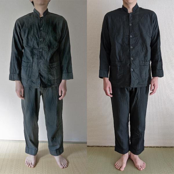男性モデル(左172cmMサイズ、右179cmLサイズ)