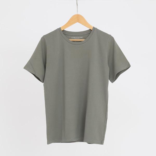 ストレッチリネンTシャツ(KAKI ARMY)
