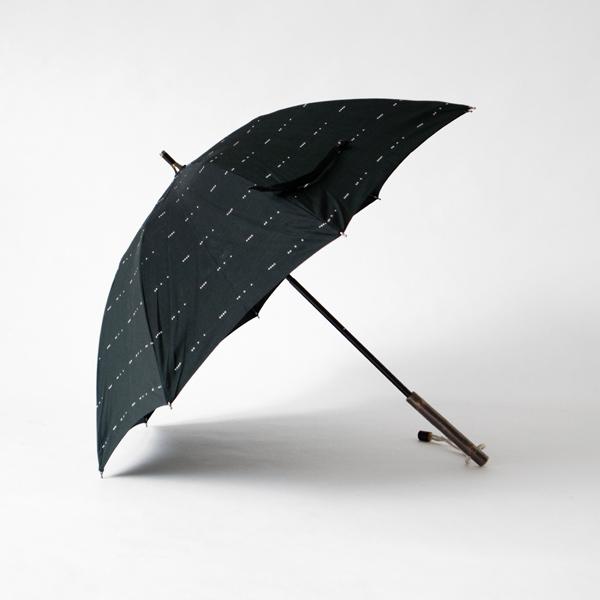 レディース晴雨兼用長傘 雨のドビー(BLACK)