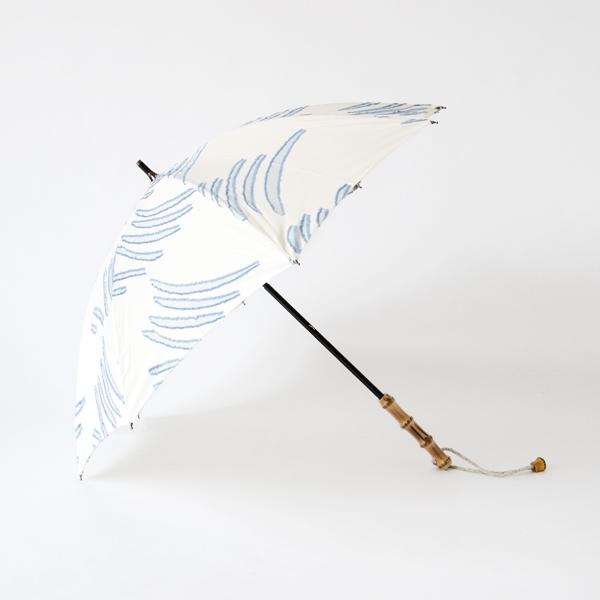 レディース晴雨兼用長傘 夏の風(BLUE)