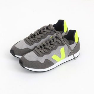 VEJA SNEAKERS SDU SILVER JAUNE FLUO