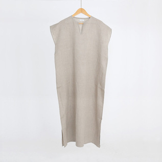LINEN FRENCH SLEEVE NIGHT DRESS