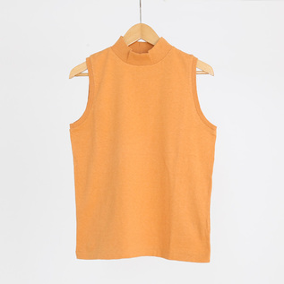 ETHEL MOCKNECK SLEEVELESS SHIRT
