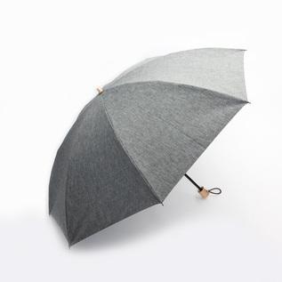 メンズ 晴雨兼用折りたたみ傘 シャンブレーシェード