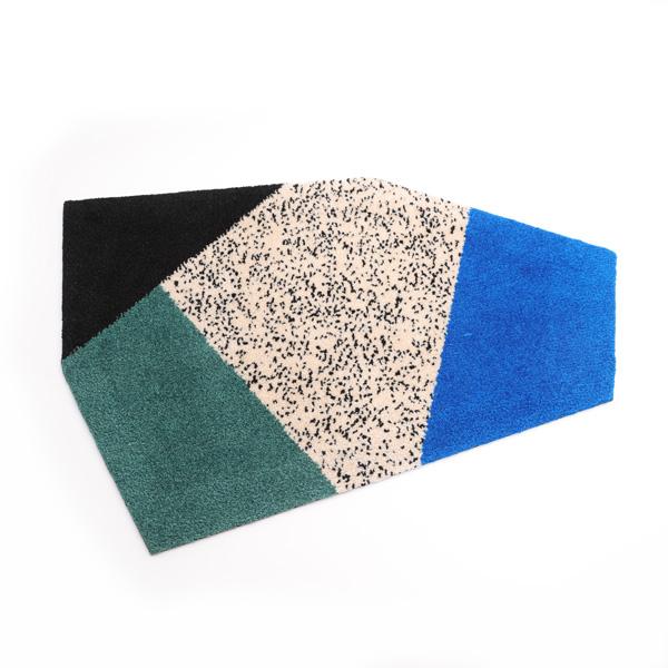 六角形のラグ(BLUE)