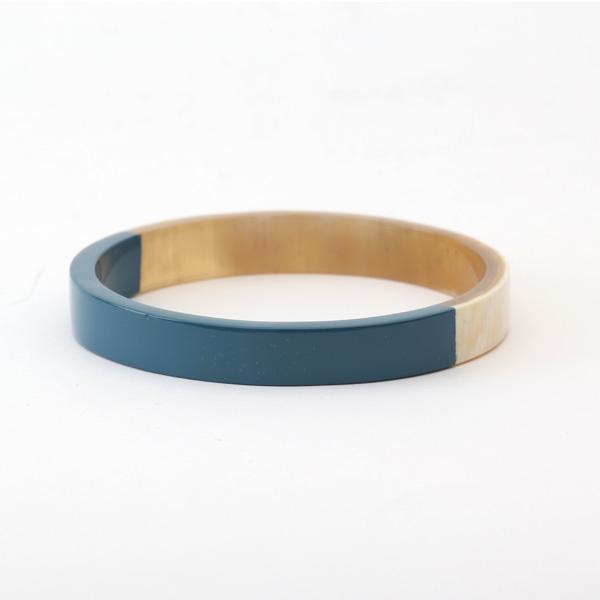 Horn バイカラーバングル M(BLUE GREY)