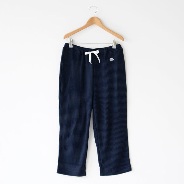 七分丈パジャマパンツ(NAVY)