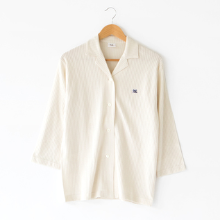 THREE-QUARTER LENGTH SLEEVE PAJAMA SHIRT