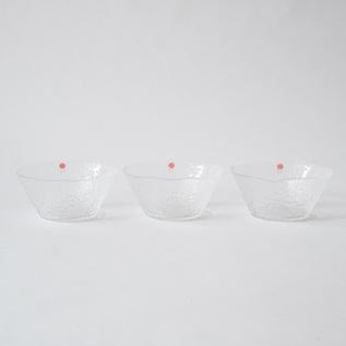 GLASS BOWL FOR SOMEN SET OF 3