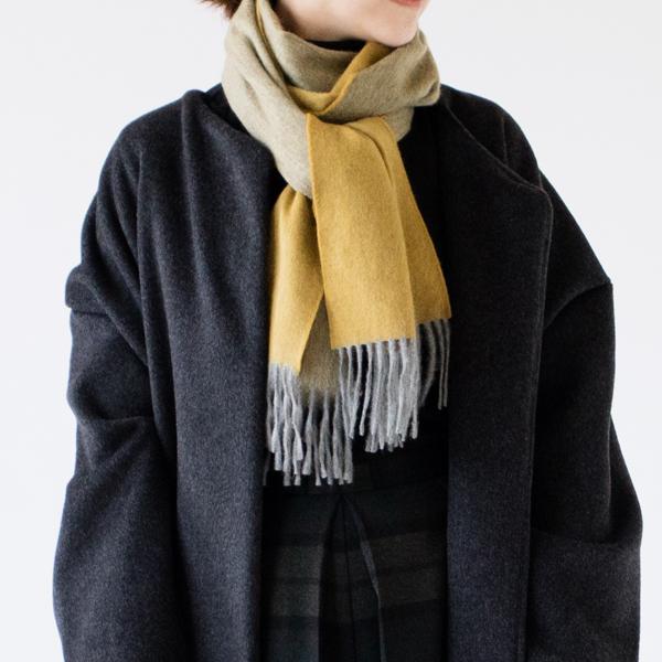 マフラー Arran Semi Reversible Flannel French Gold