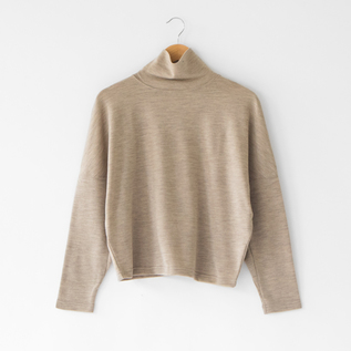 WOOL SMOOTH HIGH NECK TOP