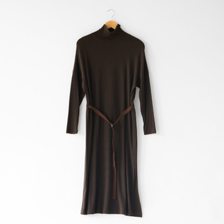 WOOL SMOOTH HIGH NECK DRESS