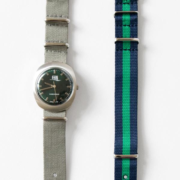 腕時計 NOAH F930 NATOベルト(GREEN)