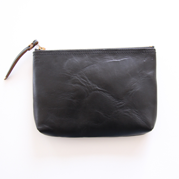 ZIP-TOP POUCH(Black)