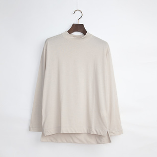 MOCK NECK LONG SLEEVE SHIRT