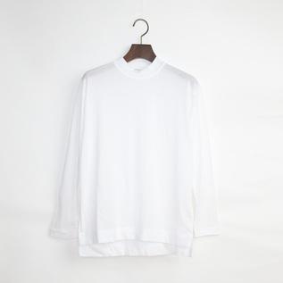 モックネック長袖Tシャツ