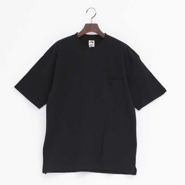 FRUIT HEAVY WEIGHT POCKET TEE(BLACK)