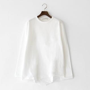 オーガニックコットン 長袖Tシャツ WHITE