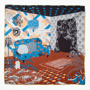 ROOM the PORT by marca large format silk twill scarf