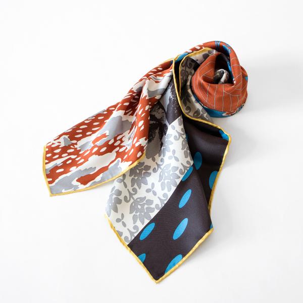 シルクツイル スカーフ ROOM(BRICK)