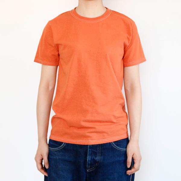 フルーツ染めTシャツ アプリコットモデル身長:163cm、Sサイズ着用