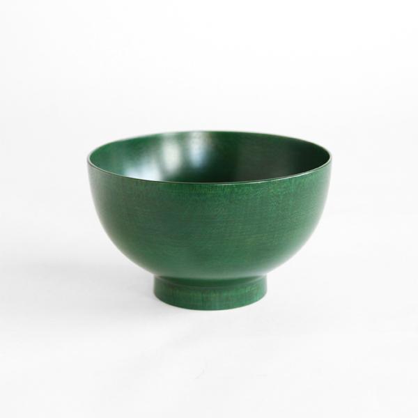 色拭き漆椀 緑