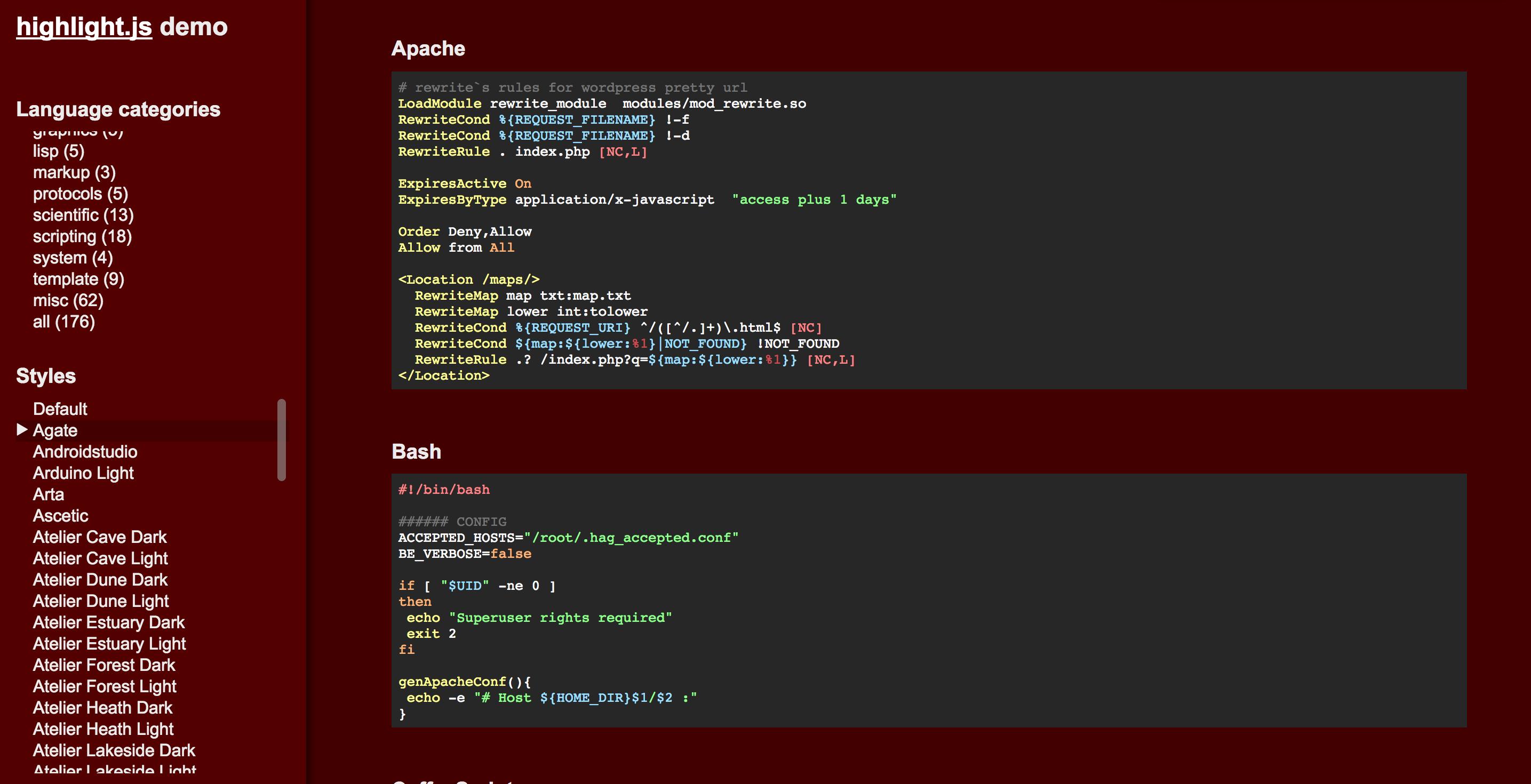 [套件] highlight.js 讓網站顯示好看的程式碼區塊